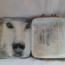 Vintage Tin Assemblage - Red Riding Hood