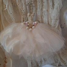 Miniature ballet assemblage art dresses