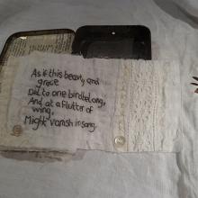 Embroidery art tin The Linnet