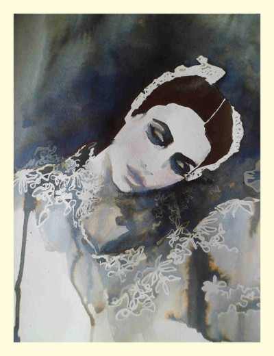 Art print from an original water colour and ink illustration the ballet dancer by MesssieJessie