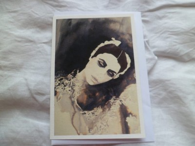 The ballerina greetings card by MesssieJessie