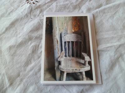 The chair  greetings card by MesssieJessie