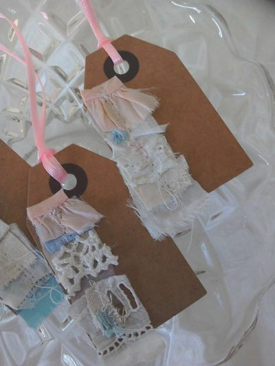 vintage fabric gift tags (single) by MesssieJessie